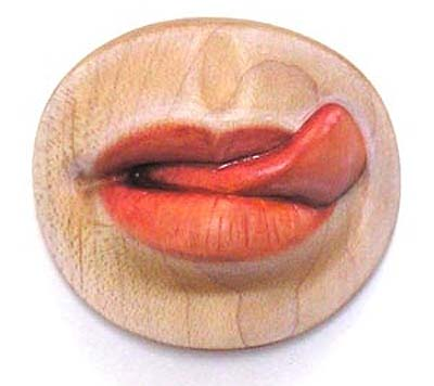 Body parts sculpted in wood