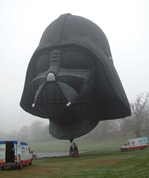 Homemade Darth Vader balloon