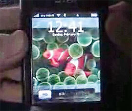 iPhone interface on a PocketPC